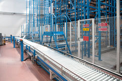 Automated warehouse with robots Royalty Free Stock Photos