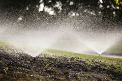 Automated Water Sprinklers Stock Photography