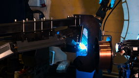 Automated welding stock footage