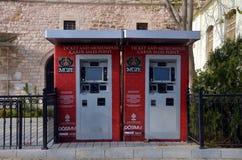 Automaten für Transport und Museumskarten Stockfotos