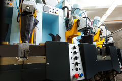 Automater för tillverkning av skodon royaltyfri foto