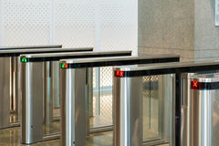 Automatic access control security gate in station entrance syste Royalty Free Stock Photography