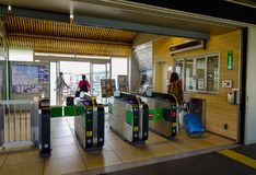Automatic access control ticket barriers royalty free stock photography