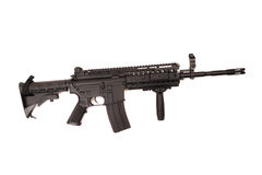 Automatic assault rifle isolated Stock Photography