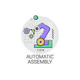 Automatic Assembly Machinery Industrial Automation Industry Production Icon. Vector Illustration royalty free illustration