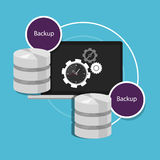 Automatic backup database machine data protection. Plan Stock Photo