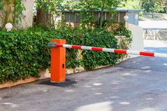 Automatic barrier royalty free stock image