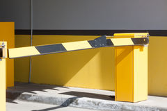 Automatic barrier at entry on the parking Stock Photo
