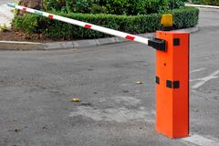 Automatic Barrier at Private Zone Royalty Free Stock Images