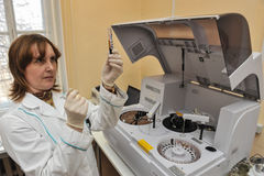 Automatic biochemical analyzer Royalty Free Stock Photography