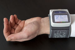Automatic blood pressure monitor Stock Images