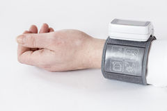 Automatic blood pressure monitor Royalty Free Stock Image