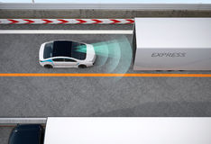 Automatic braking system concept Stock Photography