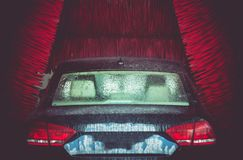 Automatic Brush Car Wash Royalty Free Stock Photo