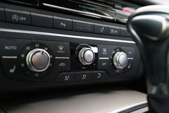Automatic Car Air Conditioner. Button Royalty Free Stock Image
