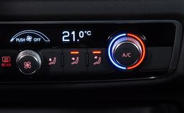 Automatic Car Air Conditioner. Manual switch board in the car Royalty Free Stock Image