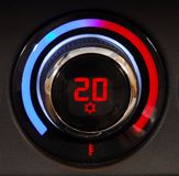 Automatic Car Air Conditioner. Manual switch board in the car Royalty Free Stock Photo