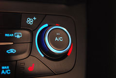 Automatic Car Air Conditioner. Manual switches the air conditioning on the dashboard of the car Stock Photography
