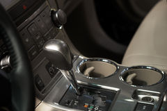 Automatic car interior Royalty Free Stock Images