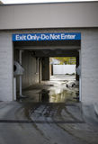 Automatic Car Wash. Front View of empty automatic car wash system Stock Image