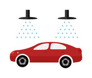 Automatic Car Wash Facilities Innovative Self Service Foaming Brush Unit Equipment Flat Icons Vector Isolated Stock Photo