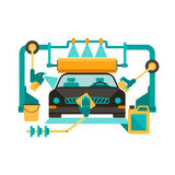 Automatic car wash Royalty Free Stock Images