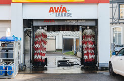 Automatic car wash in France Stock Photos