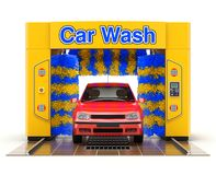 Automatic car wash machine Stock Image