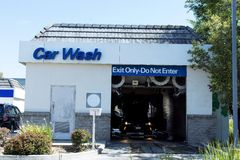 Automatic car wash Station Stock Images