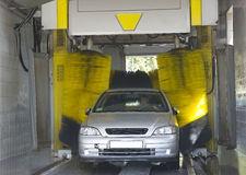 Automatic car wash. Very fast and convenient service stock photography