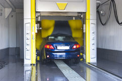 Automatic car wash. Very fast and convenient service royalty free stock image