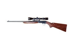 Automatic carbine. Of repetition with optical viewfinder trimmed and isolated Stock Images