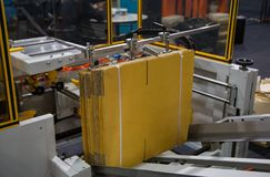 Automatic carton erector. Fully Automatic Carton / Box Erector Machine royalty free stock photos