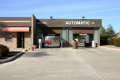 Automatic Carwash. Building royalty free stock photography