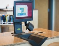 Automatic Checkout in Library Royalty Free Stock Photography