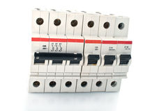 Automatic circuit breaker. Stock Images