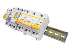 Automatic circuit breaker Stock Photos