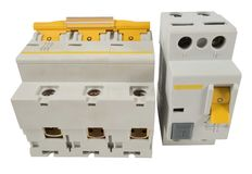 Automatic circuit breaker Stock Images