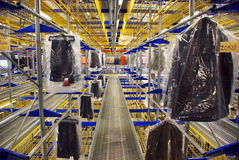 Automatic clothing warehouse. Photo of an automatic warehouse of clothing made in italy - Veneto, Italy Stock Photos