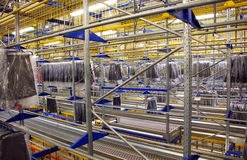 Automatic clothing warehouse Stock Image