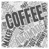 Automatic coffee maker 04 word cloud concept vector background Royalty Free Stock Image
