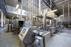 Automatic conveyor in brewery Ochakovo Stock Photos
