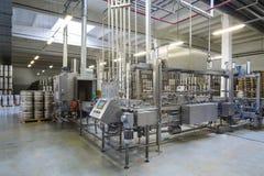 Automatic conveyor in brewery Ochakovo Royalty Free Stock Images