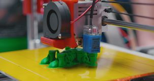 Automatic 3d printer performs product creation. Robotic automation technology stock video footage