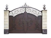 Automatic decorative gates. Isolation. Stock Photo