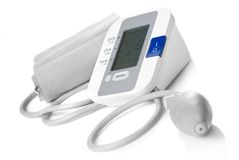 Automatic Digital Blood Pressure Monitor Isolated Royalty Free Stock Photo