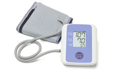 Automatic digital blood pressure monitoring meter Stock Image