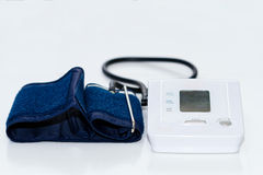 Automatic digital blood pressure monitoring meter Stock Photography