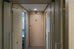 Automatic Door for green class car of H5 Series bullet train. Stock Photo