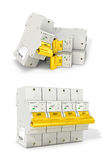 Automatic electricity switchers. On a white background. 3D illustration Stock Photos